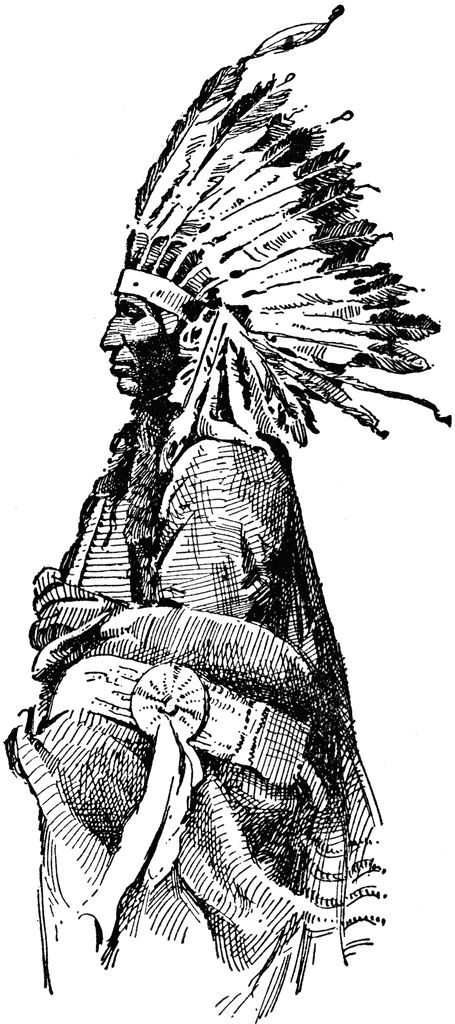Headdress clipart indian removal act American Clip Art clip 83