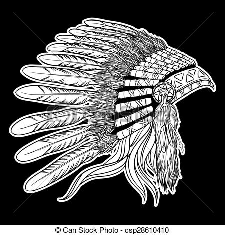 Chief clipart shield Clip Vector of american american