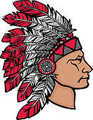 Headdress clipart native american Headdress in Native American Royalty