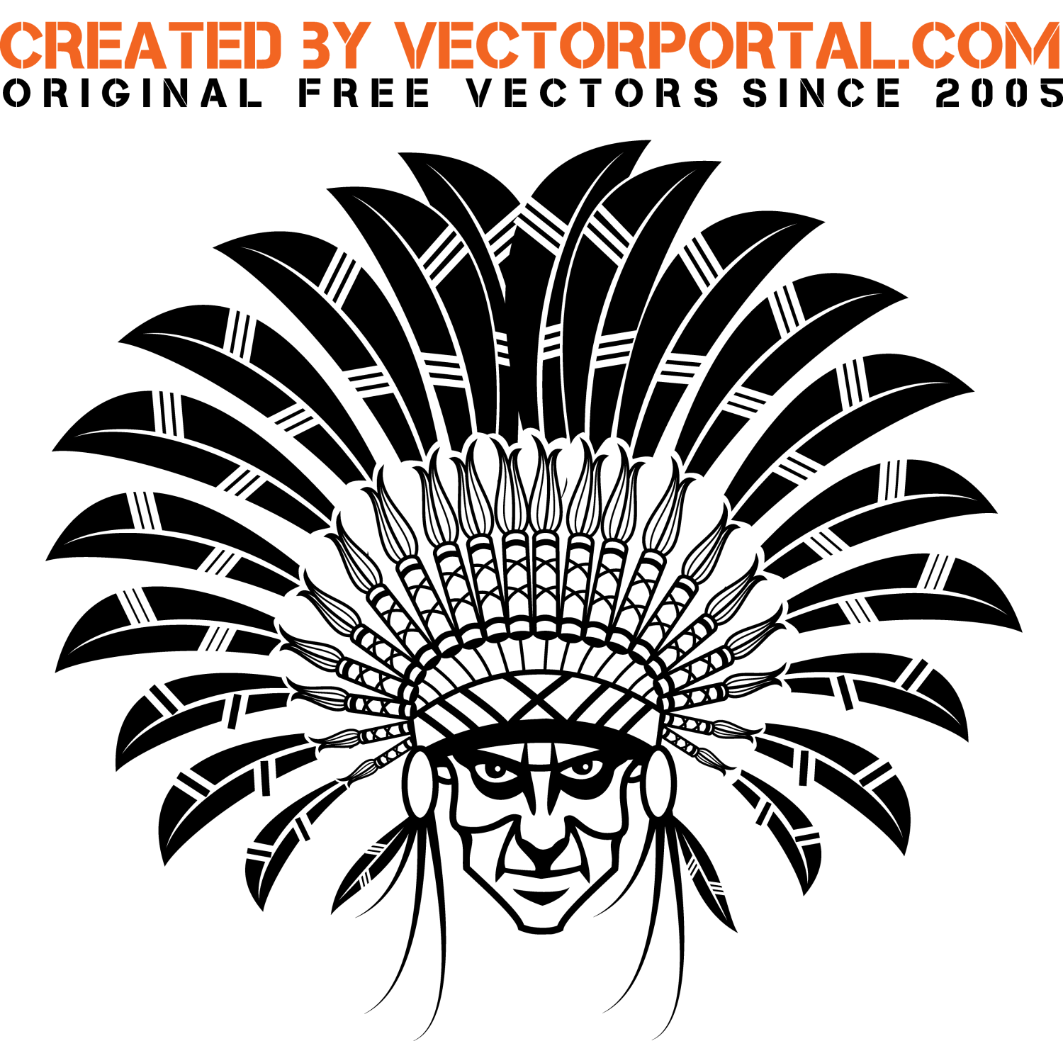 Headdress clipart native american Free for clip art art