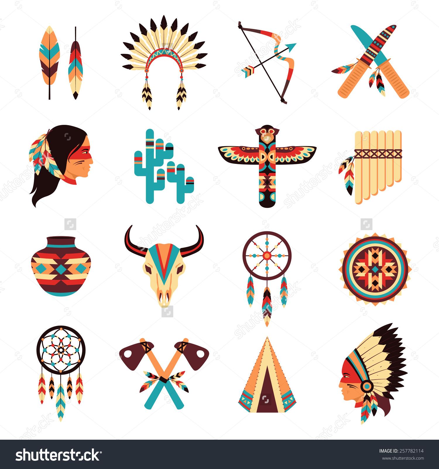 Headdress clipart navajo Native symbols icons and idigenous