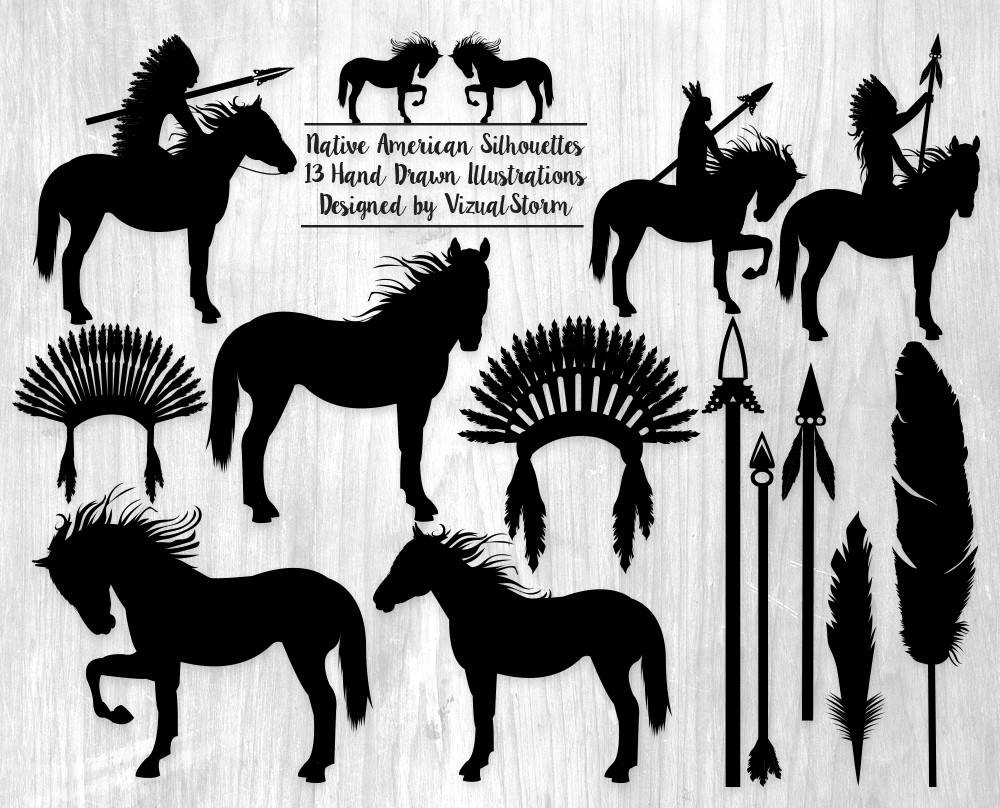 Native American clipart tribal File Tribal a Silhouettes is
