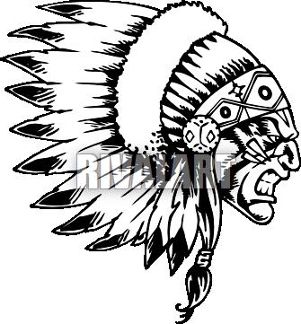 Headdress clipart navajo Indian chief wearing Indian Pinterest