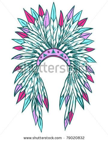 Headdress clipart indigenous Stencil via 521 on Headdress