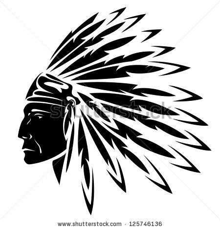 Headdress clipart north american Vector American by illustration chief