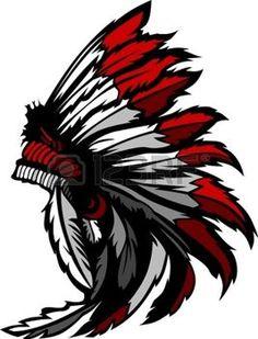 Headdress clipart plain Huvudbonad: headdress American Vectored native
