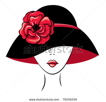 Headdress clipart red Woman clip of Poppy Silhouette