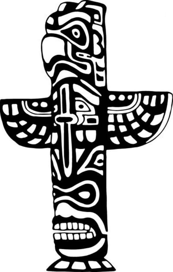 Headdress clipart totem poles Symbols Totem Totem  Color