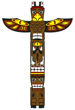 Totem Pole clipart cartoon Totem Pole Clipart Native cliparts