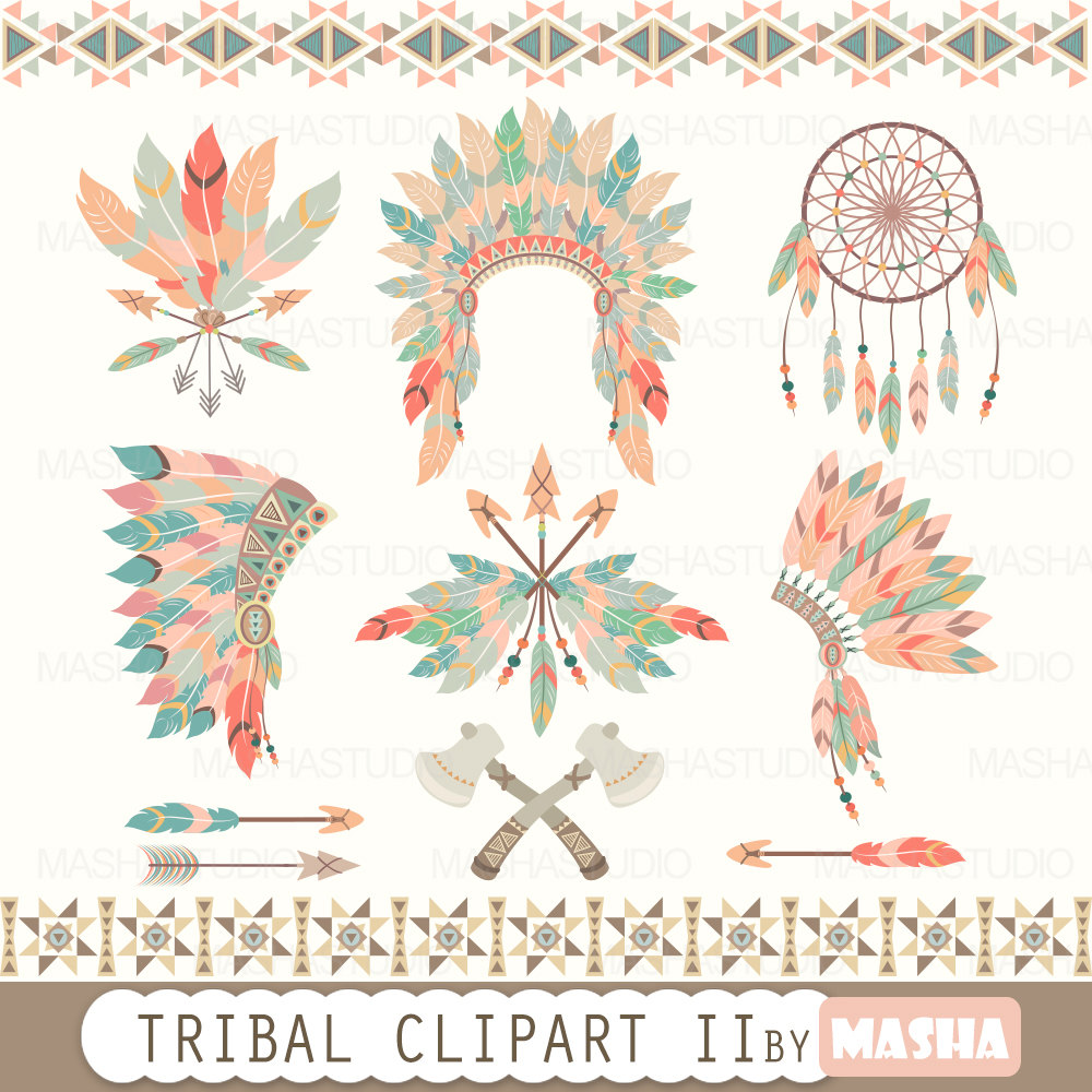 Indian clipart tribal TRIBAL feather with  II