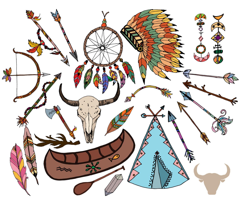 Headdress clipart tribal Tribal clip file CLIP Feather