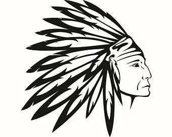 Headdress clipart warrior American Indian Logo Feather Headdress