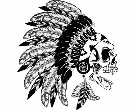 Headdress clipart warrior Indian Skull PNG Headdress Warrior