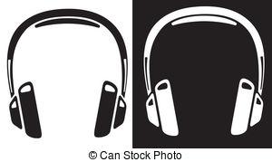 Headphone clipart Vectors Headphones art  26