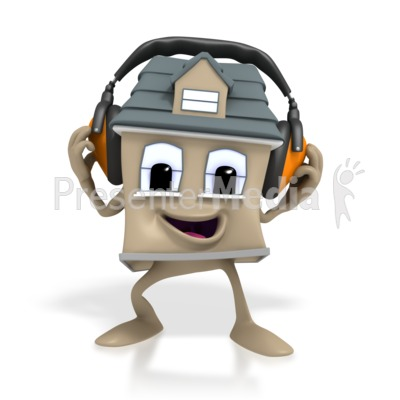 Headphones clipart animated  House Headphone Clip Lifestyle