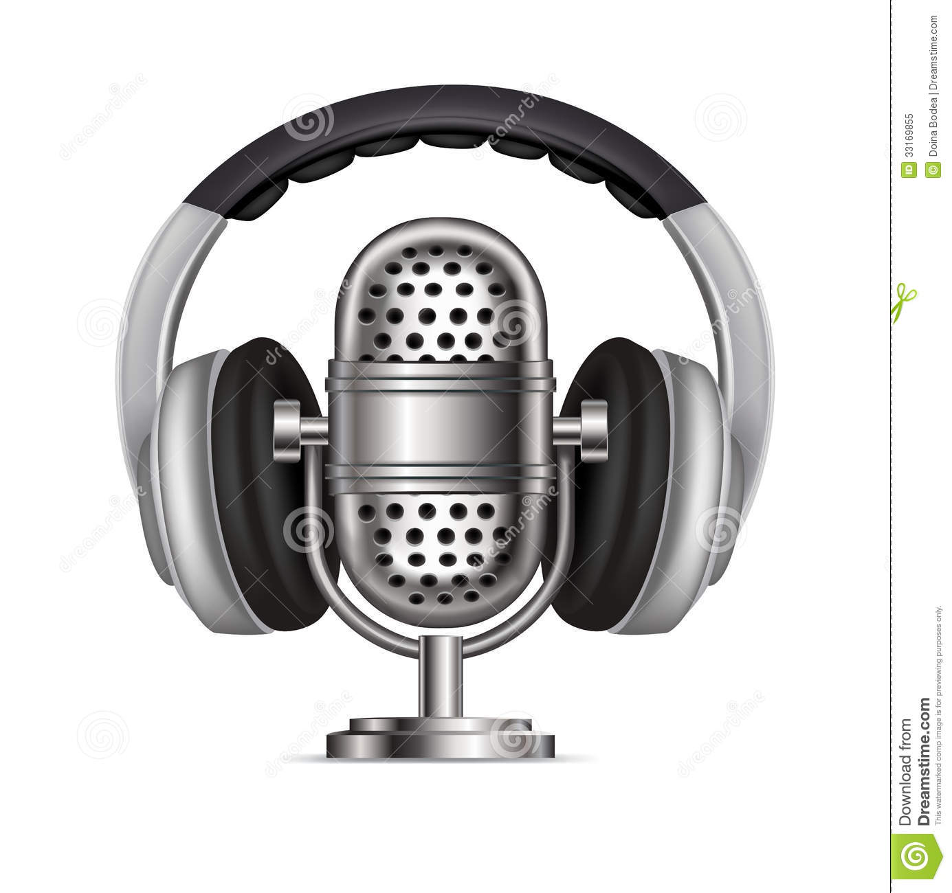 Headphone clipart animated Microphone Radio Headphone Download Clipart