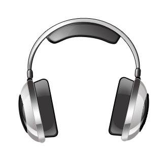 Headphone clipart animated Black black computer white White