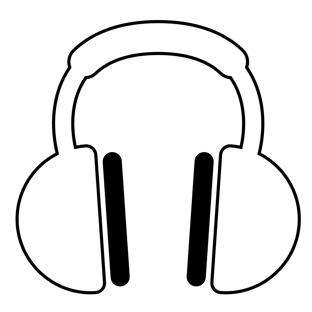 Drawn headphones line art Art Download Free  Art
