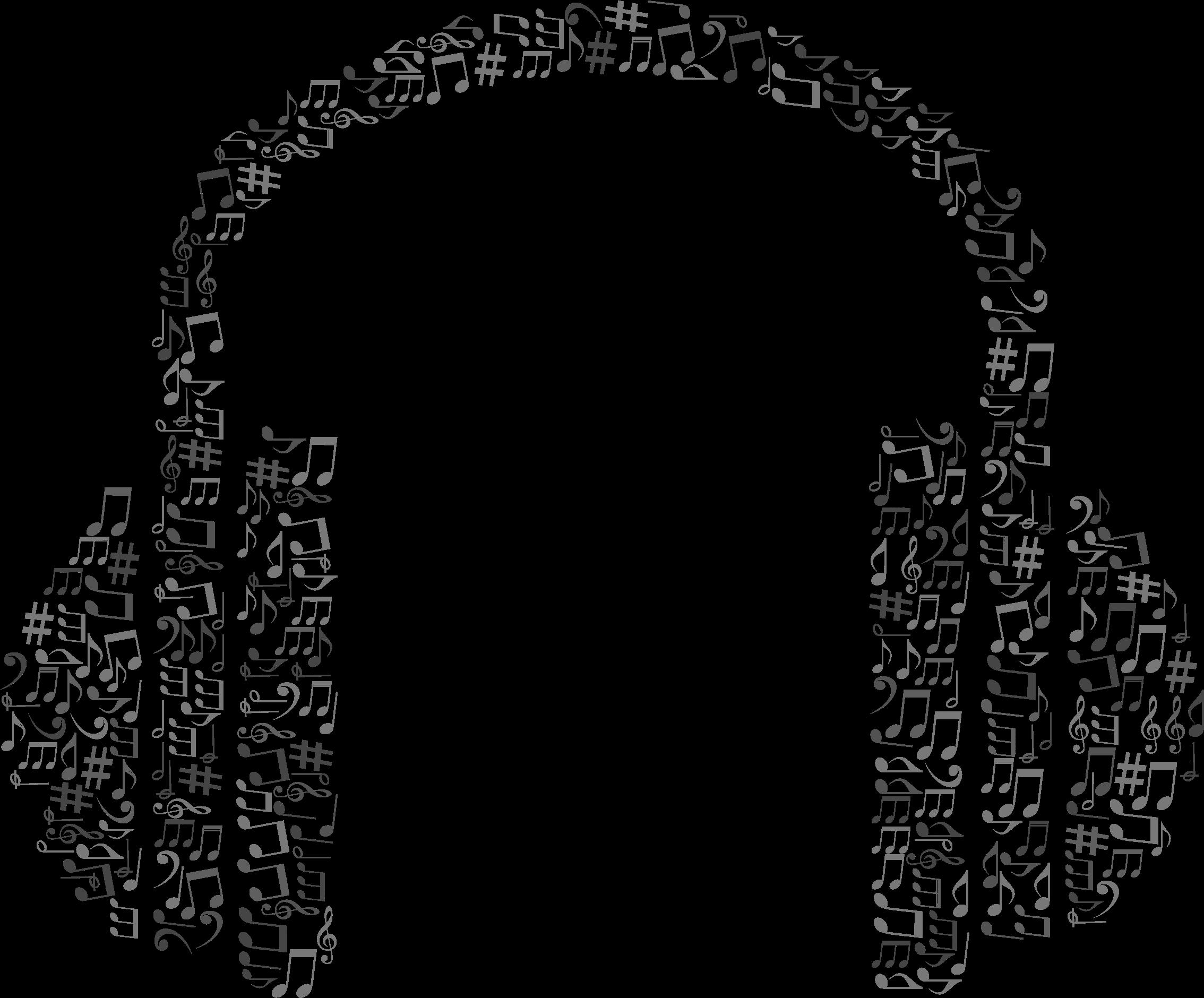 Headphone clipart big Headphone Grayscale (PNG) BIG IMAGE
