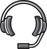 Headphone clipart call center headset Royalty Free Headset headset GoGraph
