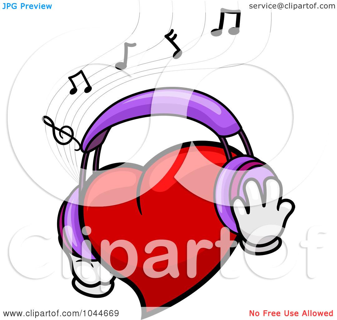 Headphone clipart cartoon music Free Music Clipart White And