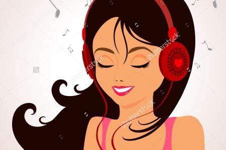 Headphone clipart cartoon music Art listening mood clipart smiley