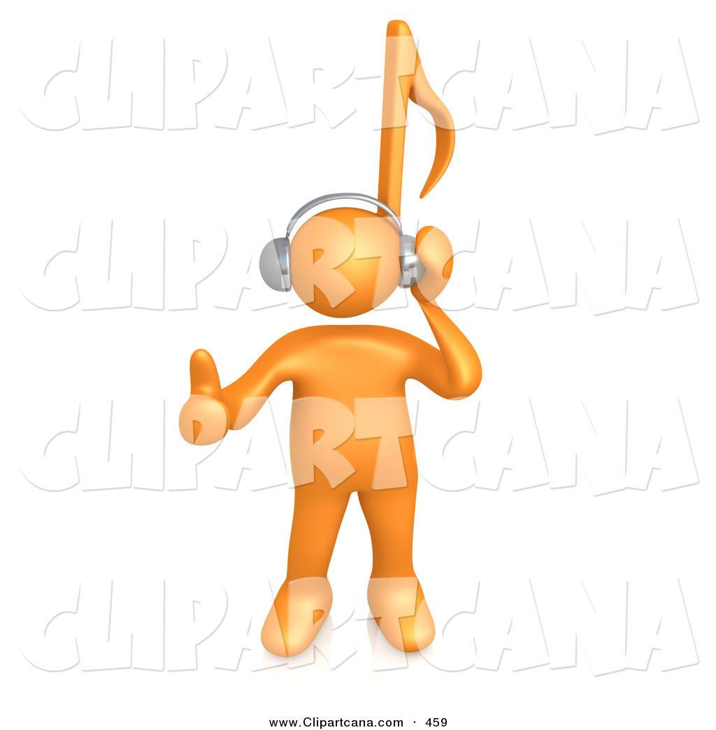 Headphone clipart cartoon music Royalty a to Listening Stock