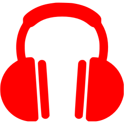 Headphone clipart colorful Free red icon headphones icon