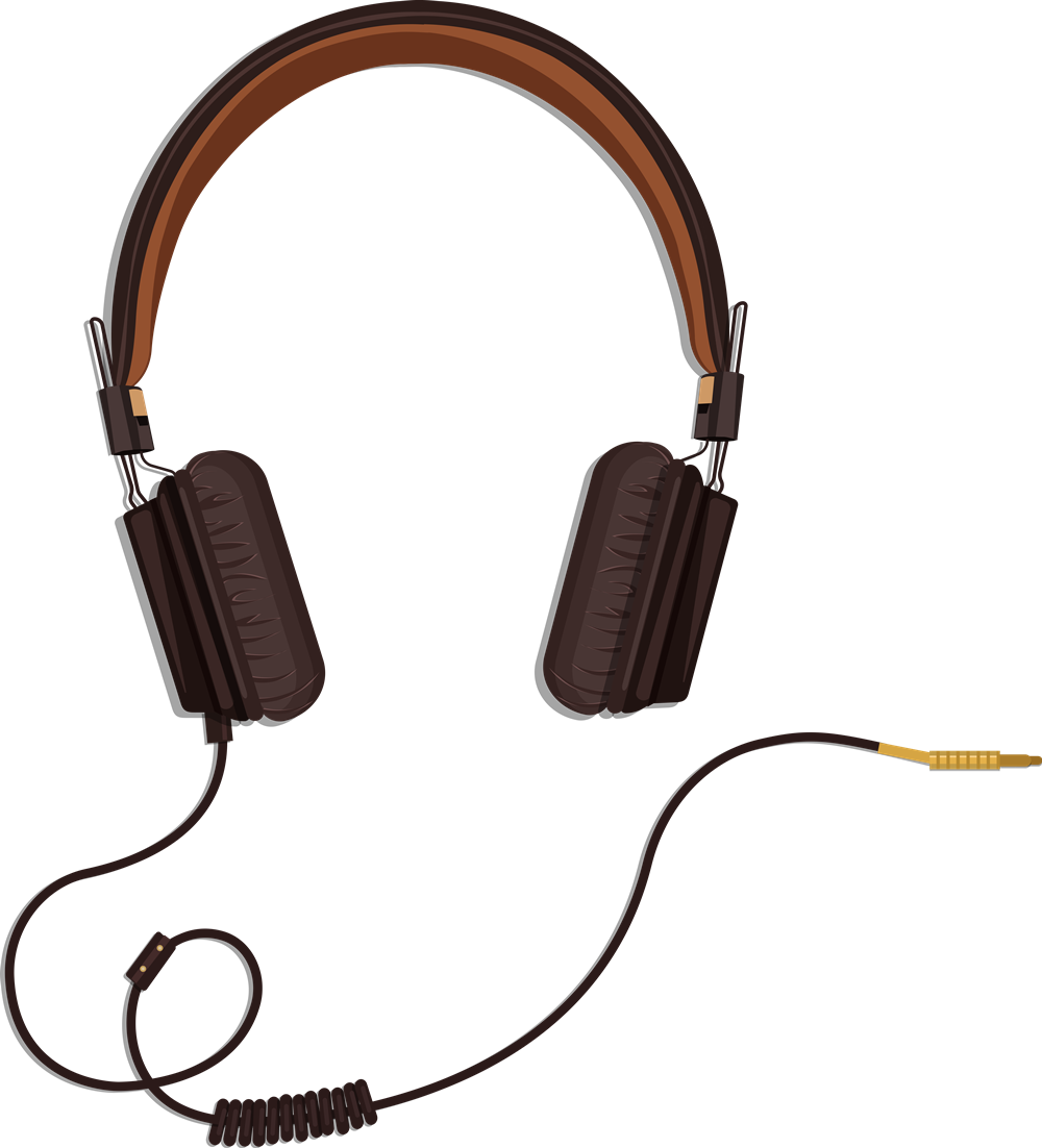 Headphone clipart cord clip art Clip Headset Headphones to Use