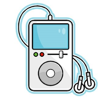 Headphone clipart cute  With Headphones Art Ipod