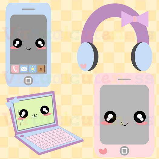 Headphone clipart cute Etsy Art Phone clipart SHOP