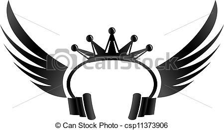 Headphone clipart dj equipment Csp11373906 wings DJ Clipart Crown