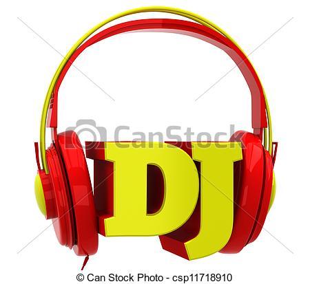 Headphone clipart dj equipment The dj with dj white