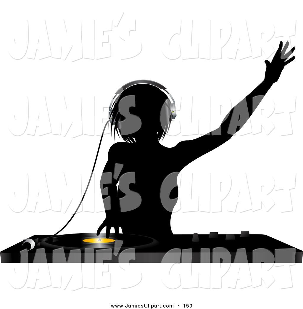 DJ clipart disc jockey Clipart female clip (66+) dj