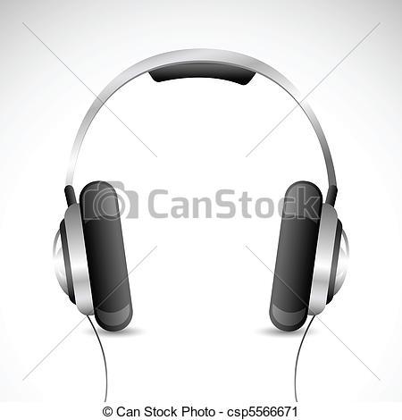 Headphone clipart drawn  kept of headphone Vector