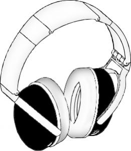 Headphone clipart drawn Art BW Headphones Headphones Clip