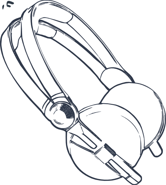 Headphone clipart drawn Art vector Clip com image