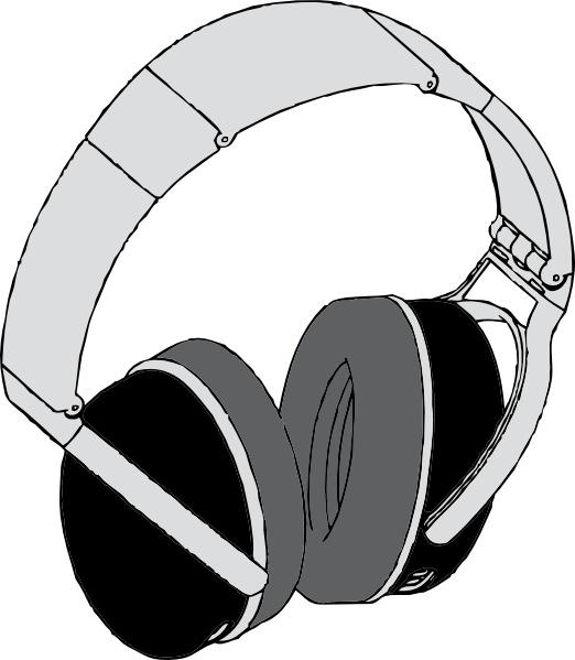 Headphone clipart drawn Svg office art Open art