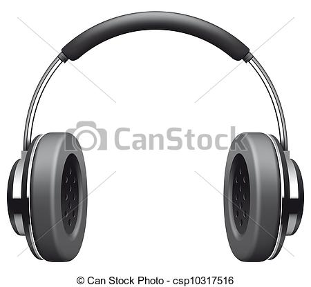 Headphone clipart drawn Isolated Clipart Heaphones  of