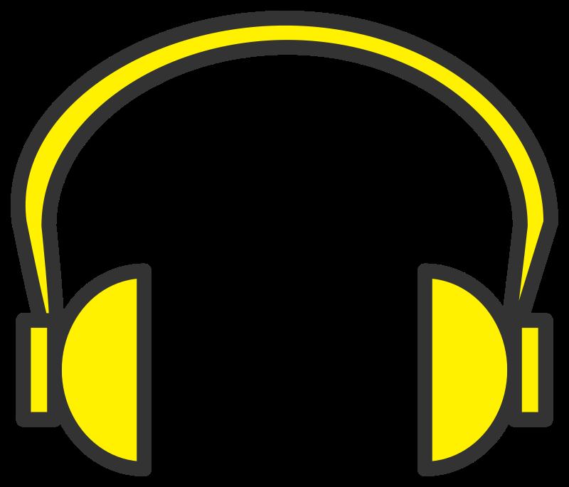 Headphone clipart earphone Yellow IMAGE Clipart headphone MEDIUM
