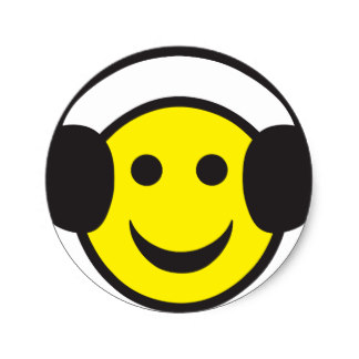 Headphone clipart emoticon Rave Smiley Rave Classic Face