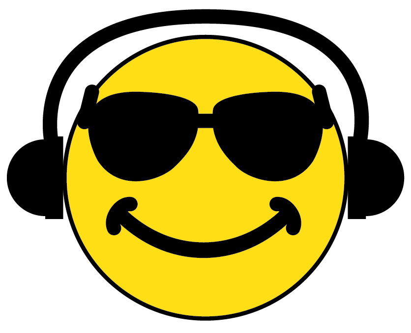 Headphone clipart emoticon Art Free Mustache Clipart Smiley