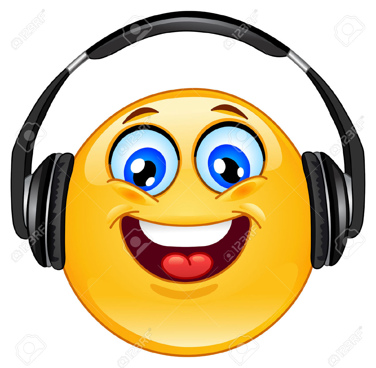 Headphone clipart emoticon  art smiley clip Google