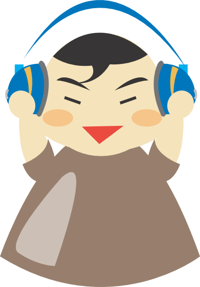 Headphone clipart for kid With Boy at as: vector