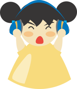 Headphone clipart for kid With Girl at Clip vector