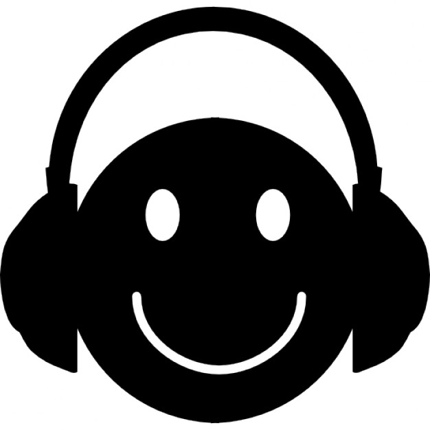 Headphone clipart happy face Icons with with Icon Download