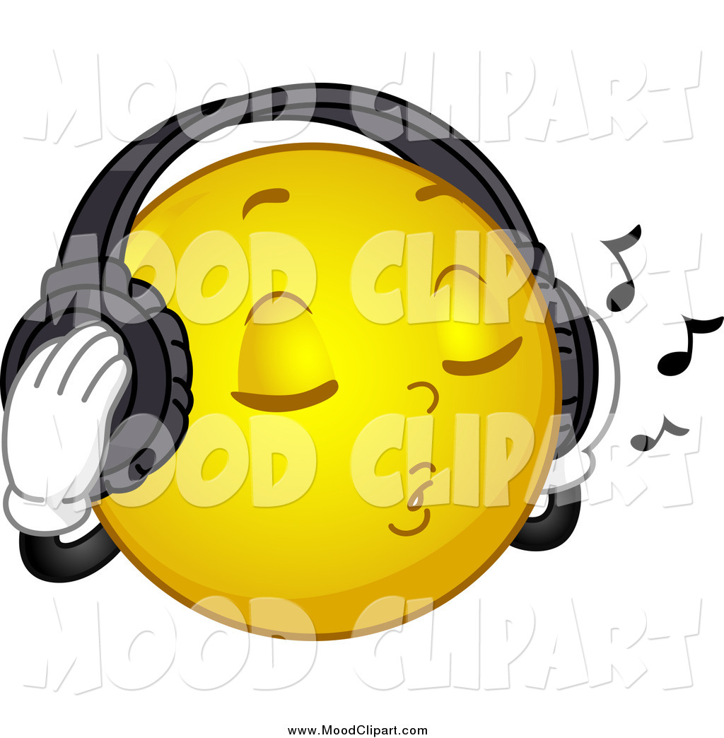 Headphone clipart happy face Headphones listening art clipart (59+)