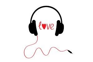 Headphone clipart i love Black Templates Photos Headphone Graphics