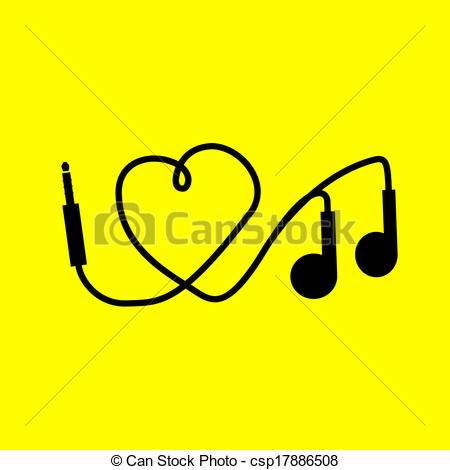 Headphone clipart i love I I music csp17886508 csp17886508
