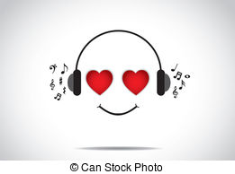 Headphone clipart i love Love of Travel concept A